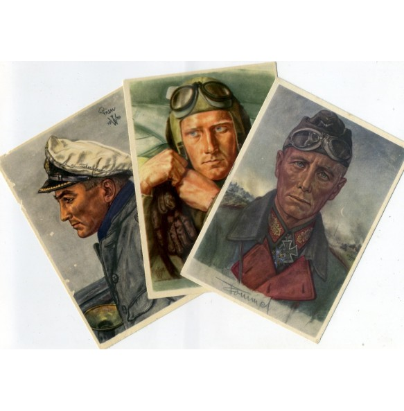 Period postcards VDA Rommel, Prien & Willrich 1940