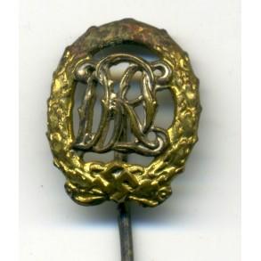 DRL sport badge for war disabled 16 mm miniature by Wernstein