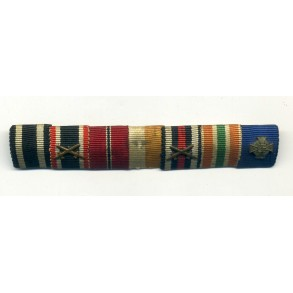 Ribbon bar with memel medal