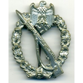 Infantry Assault Badge in silver by Gebr. Wegerhoff (GWL)