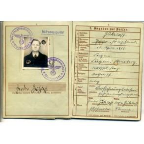 Wehrpass to Leutnant T. Gützloff, IR251 KIA Russia, Unternehmen Taifun