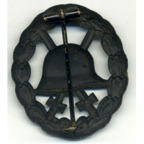 WW1 Wound Badge in black, cut out by O. Schickle