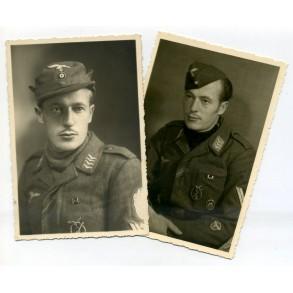 Portrait photos Luftwaffe flak Stabsgreiter with Demjansk shield