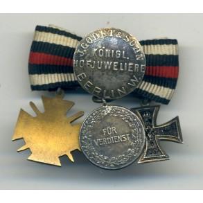 WW1 miniature medals by Godet & Sohn