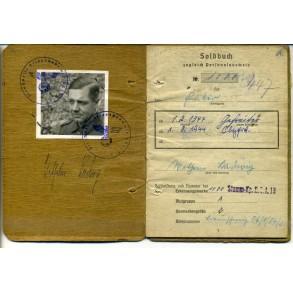 Soldbuch to O.Gefr. W. Ladwig, 244.ID, EK2 for Festung Marseille