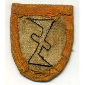 """Flemish """"Wolfsangel"""" for Flemish NSKK or Zwarte Brigade"""