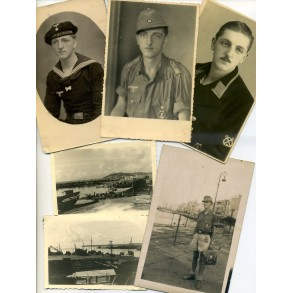 Photo lot tropical outfit minesweeper/kriegsmarine Greece 1944