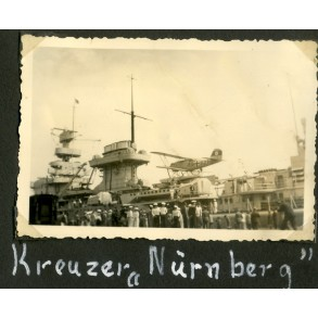 Photo album page, U-boats, Kreuzer Nürnberg