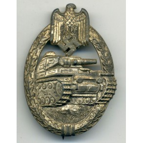 Panzer Assault Badge in silver by P. Maybauer