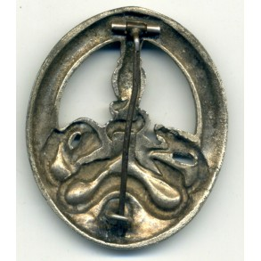 Anti-partisan badge in silver by C.E. Juncker