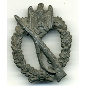 """Infantry Assault Badge in silver """"hollow rifle"""""""