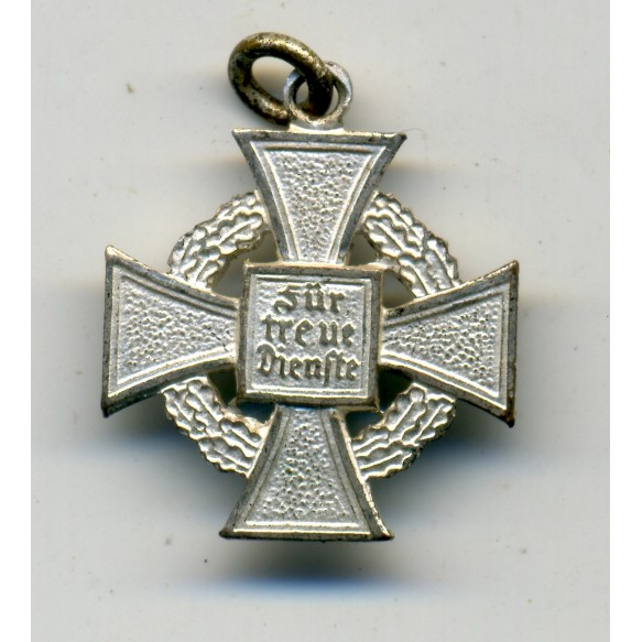 25 year civil service medal, 16 mm miniature medal