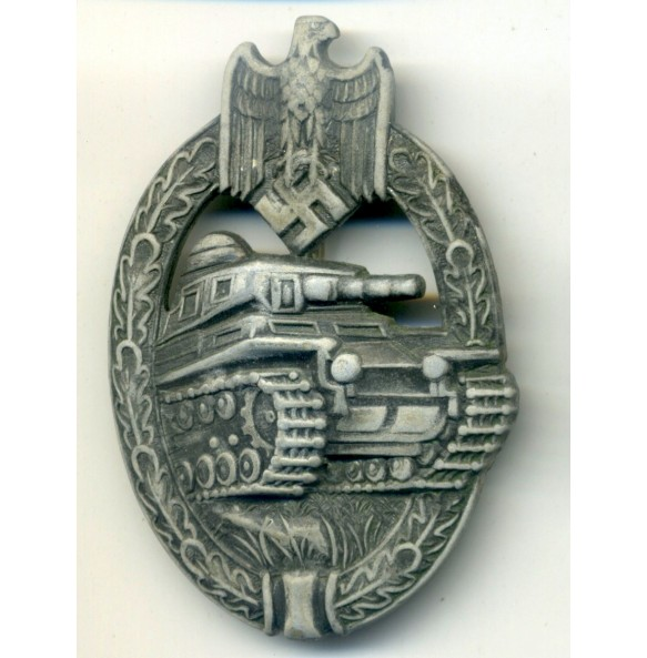 """Panzer Assault Badge in silver """"AS in triangle"""""""