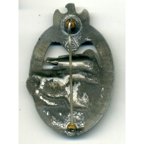 "Panzer Assault Badge in silver ""AS in triangle"""