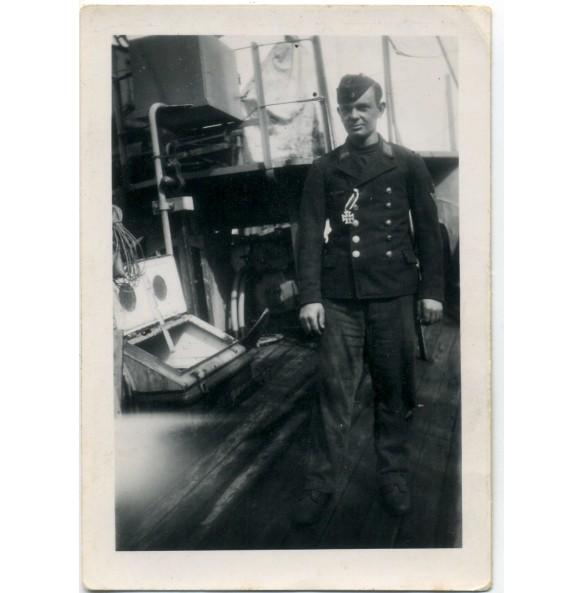 Private snapshot kriegsmarine freshly awarded EK2, Brest 1943