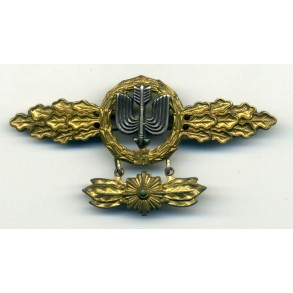 Luftwaffe destroyer clasp in gold with star pennant