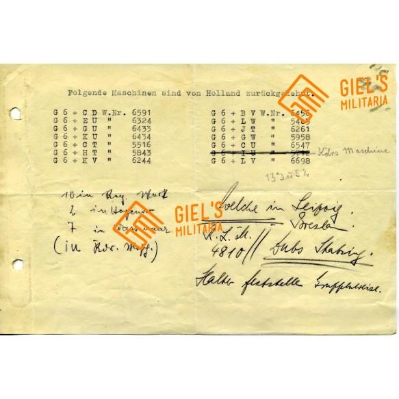 Ju52 records from Valkenburg, Holland 1940!!!