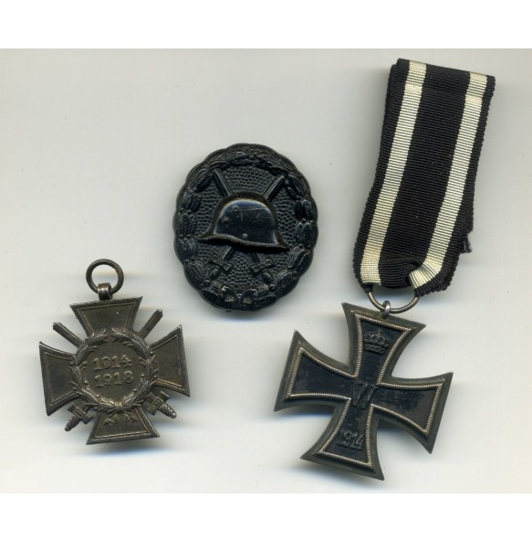 WW1 medal lot with iron Cross