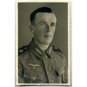 Portrait photo coastal artillerie soldier