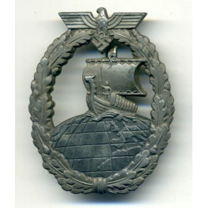 Kriegsmarine Auxiliary Cruiser Badge by F. Orth