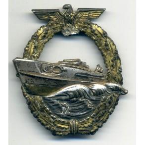 Kriegsmarine S-Boat 2nd pattern badge by Schwerin