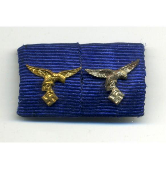 Luftwaffe 4 + 8 year service award ribbon bar