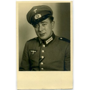 Portrait photo with east front medal in wear