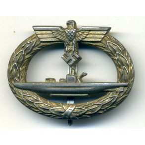 Kriegsmarine U-Boat badge by C.E. Juncker