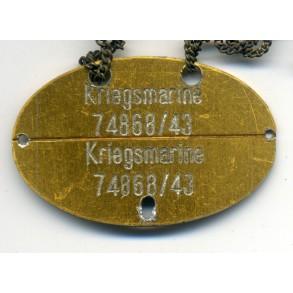 Kriegsmarine dog tag aluminium