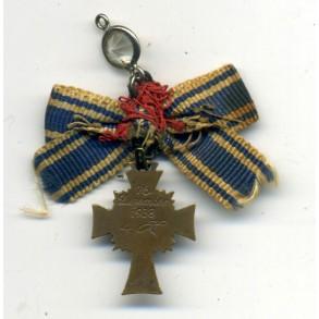 Mother's Cross in bronze miniature, hanger modified