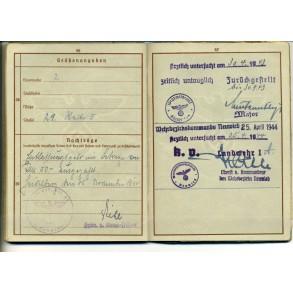 Wehrpass to O. Awabin Bahnhoffoffizier 98, Antwerpen Stuivenberg, Centraal, Schijnpoort 1940 ...