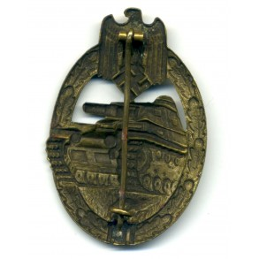 Panzer Assault Badge in bronze by K. Wurster