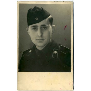 Portrait panzer crew member