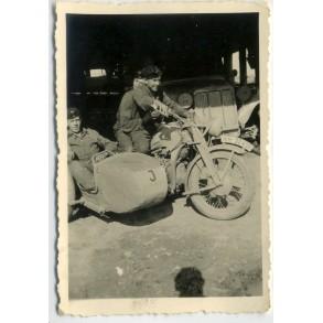 "Private snapshot panzer troops motorcycle ""Liesl"""