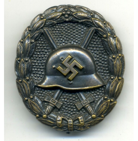 Wound badge in silver, 1st pattern high quality