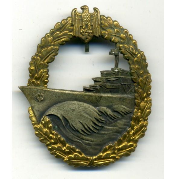 """Kriegsmarine Destroyer Badge by Gebr. Wgerhoff """"GWL"""""""
