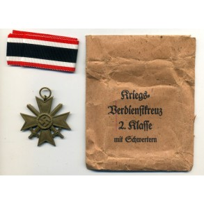 War Merit Cross 2nd class by P. Meybauer + package