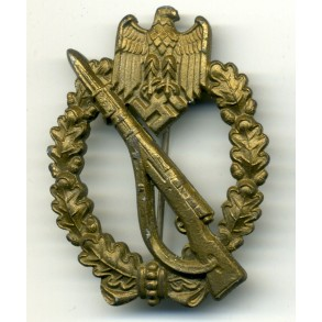 Infantry Assault Badge in bronze by F. Linden