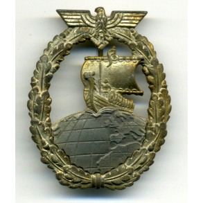Kriegsmarine Auxiliary cruiser badge by A. Rettenmaier