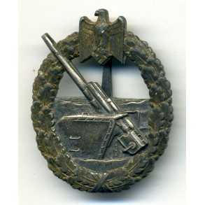Kriegsmarine Coastal Artillery Badge by Schwerin