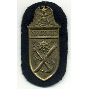 Kriegsmarine Narvik shield in gold