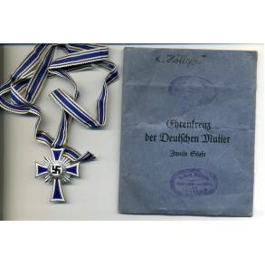 Mother cross in silver by F. Keller + package