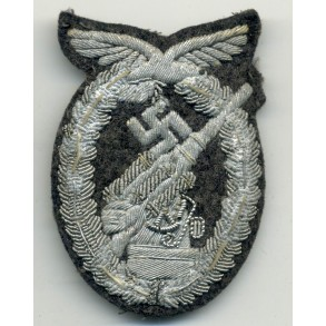 Luftwaffe flak badge, bullion!
