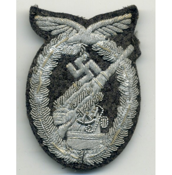 Luftwaffe flak badge, bullion!