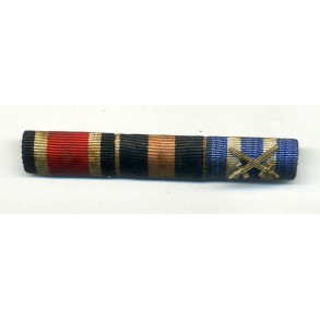 3 place medal bar, EK2, 1 Oct. Annexation and Cross Military Valor Valore Militare 1943