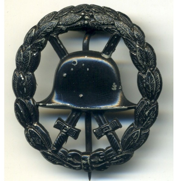 WW1 Wound Badge in black, cut out variant O. Schickle