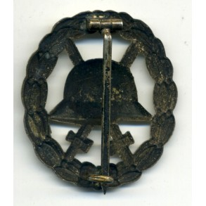 WW1 Wound badge in silver, cut out variant by unknown maker