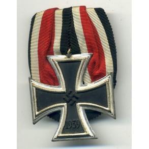 """Iron Cross 2nd class """"straight 9"""" single mounted"""