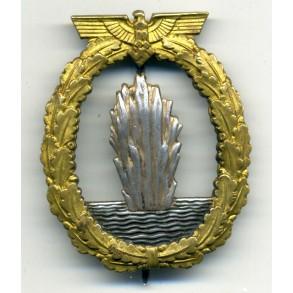Kriegsmarine minesweeper badge by Schwerin, Berlin