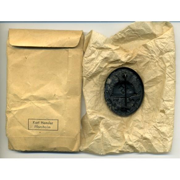 Wound badge in black by K. Hensler + package